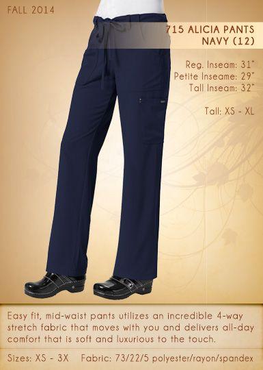 715 ALICIA Pants | 715-12 (Navy)