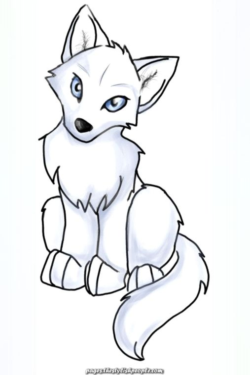 Anime Wolf Pup Simple Clipart Greatest Cute Wolf Drawings