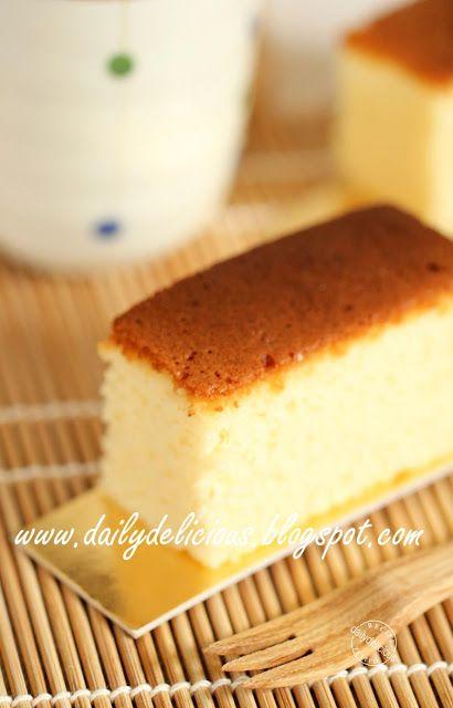dailydelicious: Japanese Castella: Lovely tea time treat!