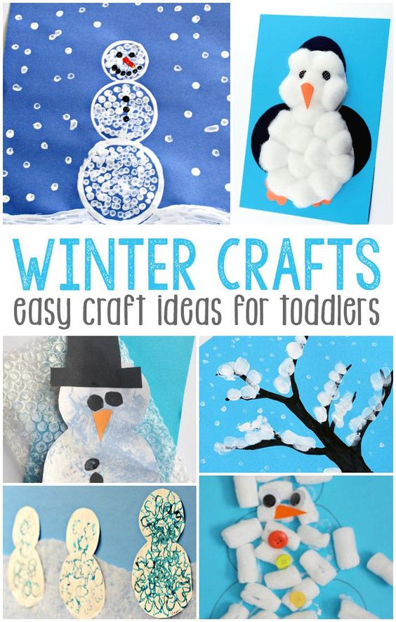 Simple winter crafts for toddlers basteln im winter - Winter basteln im kindergarten ...