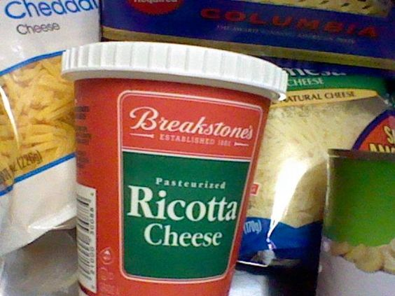 Ingredients for the Homemade Lasagna!