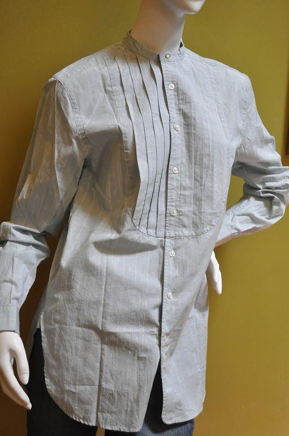 Ralph Lauren Womens Blue Label Striped Dress Shirt Blouse French Cuffs Sz 6 #RalphLaurenBlueLabel #ButtonDownShirt #Casual