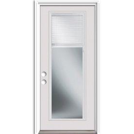 Reliabilt 32 In X 80 In Blinds Between The Glass Full Lite Prehung Inswing Steel Entry Door