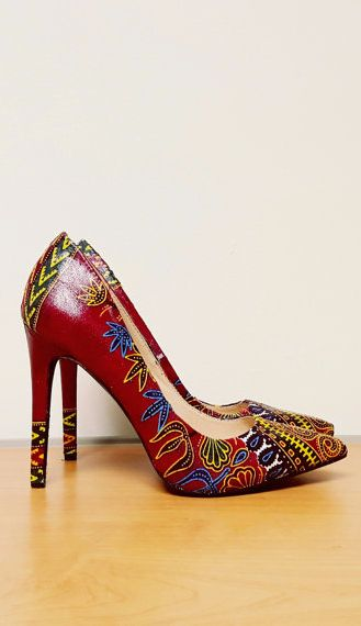 Dashiki African print shoes and bag set, bridesmaid Gift ~DKK ~African fashion…