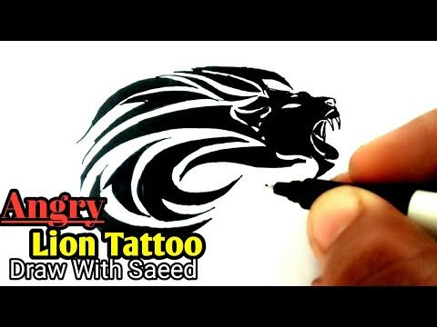 How To Draw Lion Tattoos Angry Lion On Paper Easy Step By Step On Hand Little Singham Tattoo Youtube Lion Tattoo Lion Drawing Simple Tattoos
