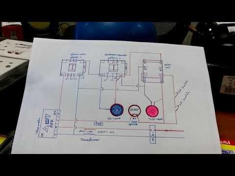 Hvac System Interlock Wiring Diagram In Hindi Youtube Hvac System Hvac Interlock