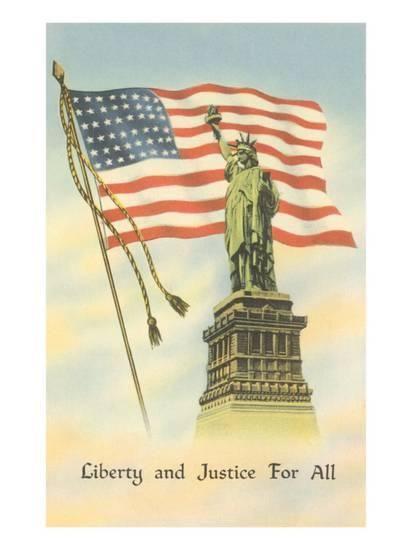 Liberty And Justice For All Art Print Art Com Patriotic God Bless America Flag