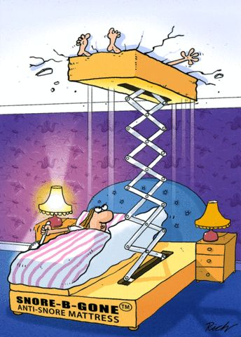 Funny Cards - Snore-B-Gone Mattress