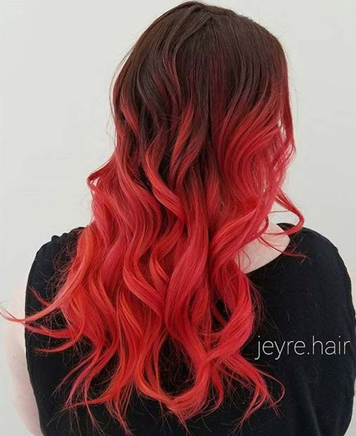 Hair Color Trends For 2021 Red Ombre Hairstyles Pretty Designs Hair Styles Ombre Hair Color Brown Ombre Hair