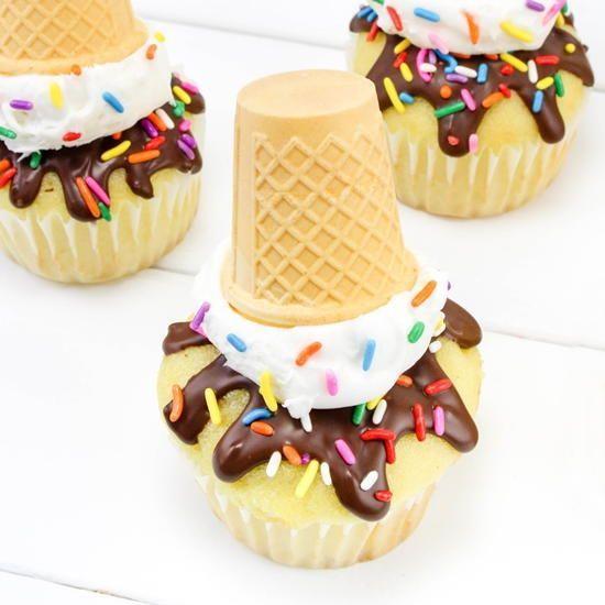 Melting Ice Cream Cone Cupcakes Melting Ice Cream Cupcake