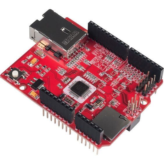W5500 Ethernet shield is designed using the WIZnet W5500 chip. Please click the link for the further information about W5500. It supports both 3.3V & 5V. This Ethernet Shield is compatible with Arduino and ARM mbed Platform.