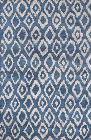 JAT26 Timeless by Jennifer Adams Tufted Moroccan Blue & Feather Gray by…