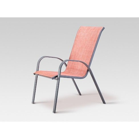 stack sling patio chair coral