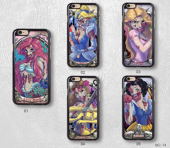 Tattoo Zombie Princess Protective Phone Case For iPhone case & Samsung case, H14