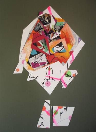 """Saatchi Art Artist Christelle GERARDY; Collage, """"Ethnic"""" #art"""