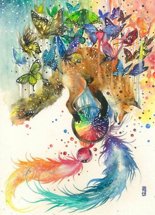 La Magie Positive Des Aquarelles De Luqman Reza Painting