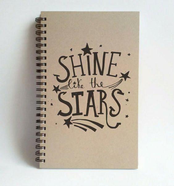 Shine like the stars 5x8 writing journal by JournalandCompany