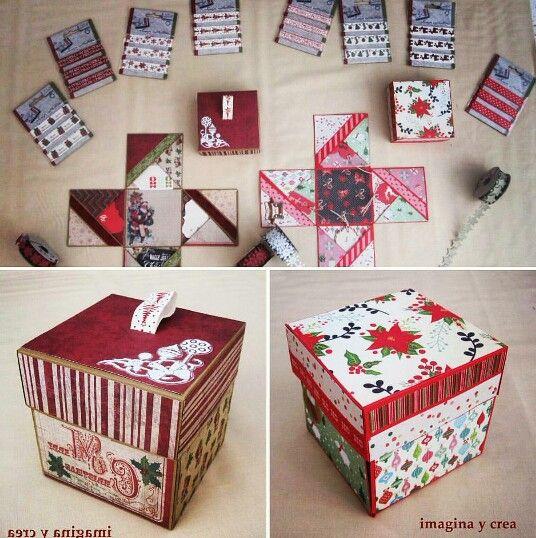 """Caja Sorpresa!! Aquí tienes uno de los regalos mas original que puedes regalar. Aparentemente es una caja, pero si le quitas la tapa... se abren 4 posibilidades con las que tu mismo puedes diseñar lo que quieras. Una mamá abrió la ultima """"caja sorpresa"""" que hizimos y se encontró fotos y mensajes de su bebé. ¿No es alucinante? Si quieres una... Contacta en info@imaginapatchwork.com"""