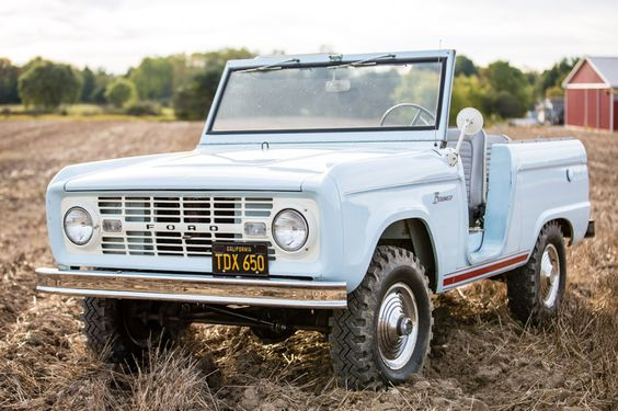 Was The Tailgate Ford Body Color Or Classic Bronco Classic Trucks Ford Trucks