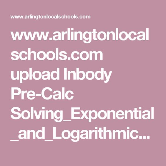 Printables Solving Logarithmic Equations Worksheet Pdf pdf with examples for solving exponential and logarithmic equations problems to solve
