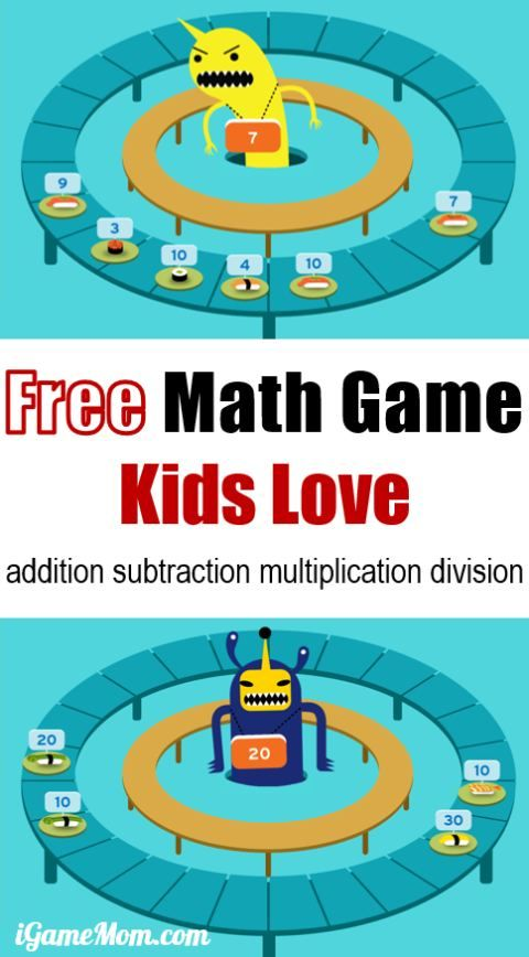 Master Math Skills With Sushi Monster A Free App Division Math Games Math For Kids Learn Math Online