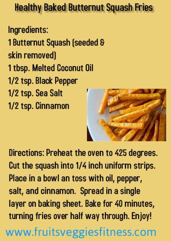Baked Butternut Squash Fries
