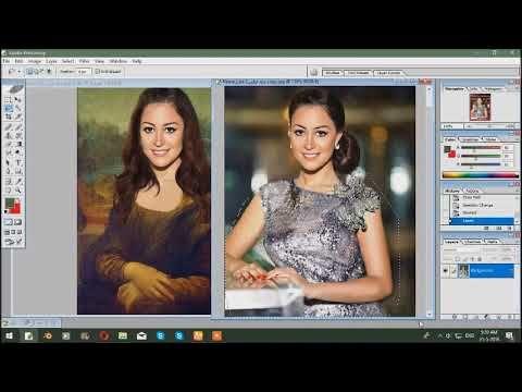 ازاي تغيري صورتك الى لوحة الموناليزا منة شلبي Monalisa Photoshop Monashalpi Electronic Products