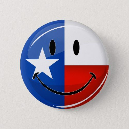 Smiling Texas Flag Button Zazzle Com In 2020 Texas Flags Flag Texas State Flag