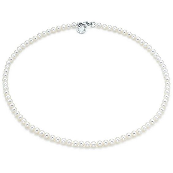 Ziegfeld Collection Pearl Necklace ($425) ❤ liked on Polyvore featuring jewelry, necklaces, pearl jewellery, white pearl necklace, pearl necklace, tiffany & co. and pearl jewelry