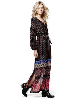 Lucille Mae: Macy's NY Collection Printed Peasant Dress
