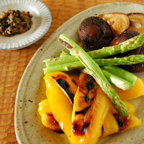 野菜の網焼き ゴマ麹ディップ