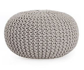 pouf in cotone tricot bini grigio chiaro d 55 cm salottino pinterest d tricot and poufs. Black Bedroom Furniture Sets. Home Design Ideas