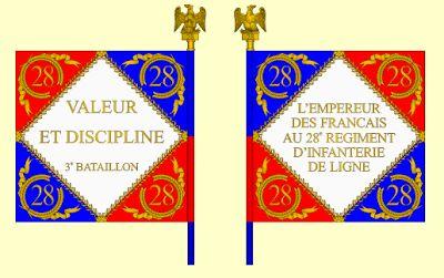Drapeau du 28ème régiment d'infanterie, 3ème bataillon