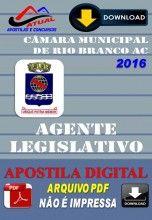 Apostila Digital Concurso Camara Municipal de Rio Branco AC Agente Legislativo 2016