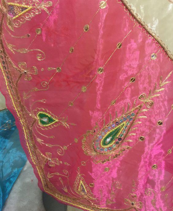 Vintage Embroidered Organza Sari Silk Shawl Saree by Paloma Blanca Studios on Etsy