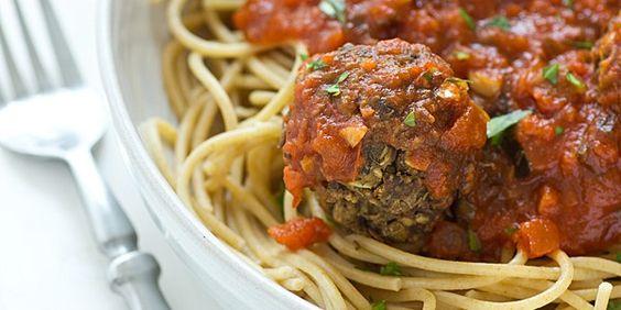 Lentil Mushroom Meatballs Recipe. I wonder if I'd taste the mushrooms ...