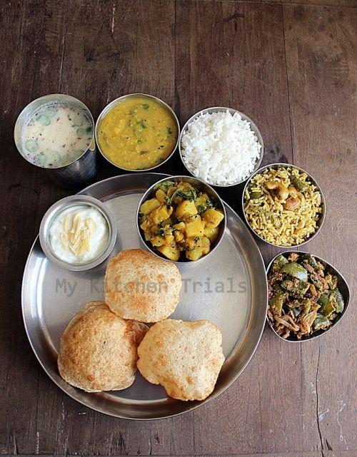 Maharashtra Puri Bhaji Thali