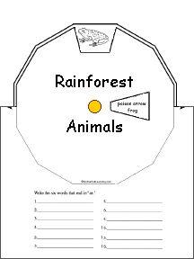 rainforest classroom wheels activities australian animals animals ...