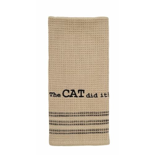 The Cat Did It Kitchen Dishtowel 20 X 28 With Images Dish