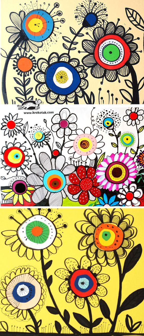 dessiner des fleurs bricolages pinterest dessin de fleurs fleur et cr atif. Black Bedroom Furniture Sets. Home Design Ideas