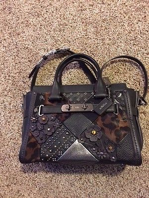 NWT $695 COACH 55503 LEATHER EMBELLISHED CANYON QUILT SWAGGER 27 SATCHEL PURSE   https://t.co/9XuH1qOAPz https://t.co/yKAFBEJJ50