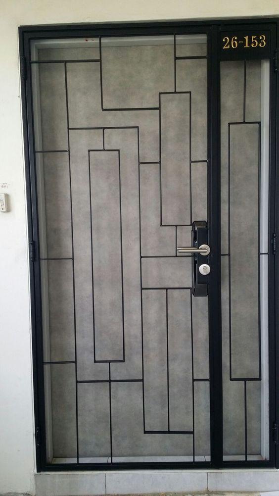 Latest design of hdb bto mild steel gate 3x7feet gate 680 for Latest designs of main doors