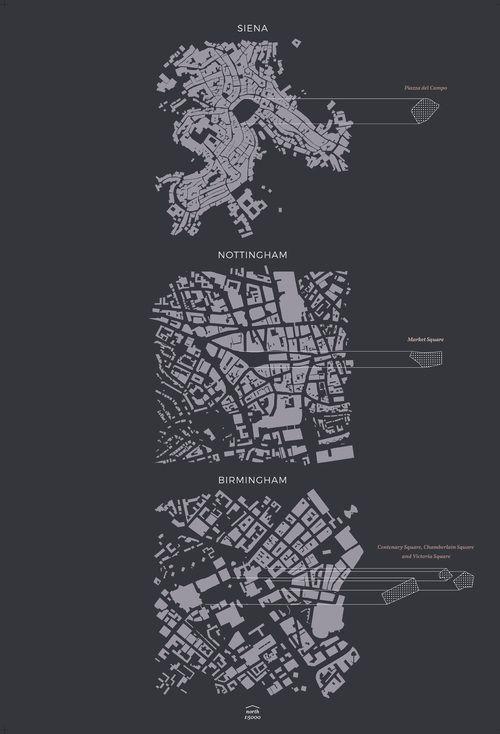Figure ground comparison - public squares