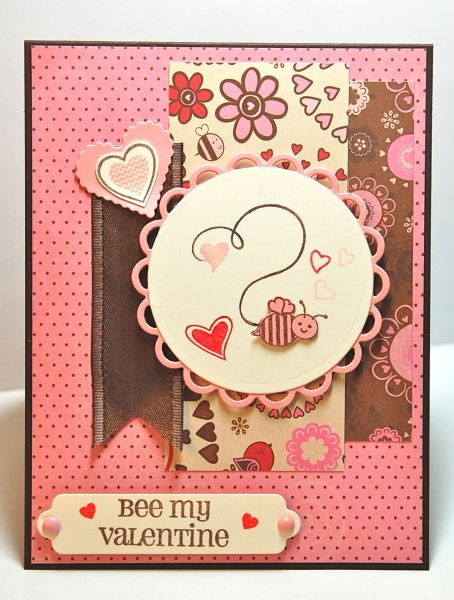 Bee My Valentine card by Kay S and uses the stamp sets Spoon Me – Bee My Valentine Card