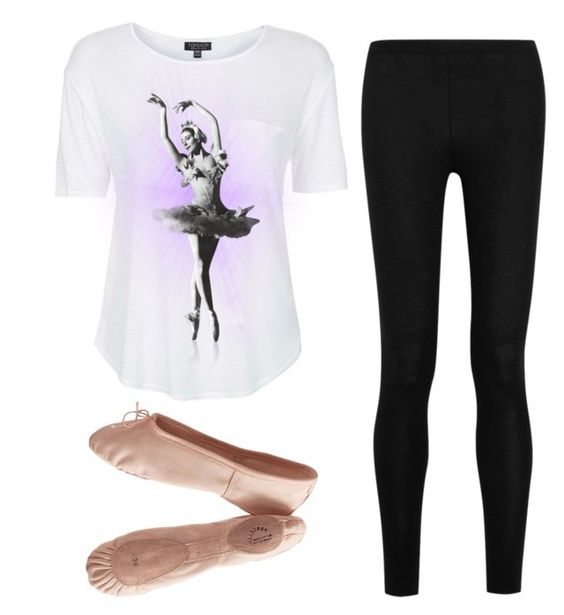 """""""Ballet at home practice"""" by hcs72902 ❤ liked on Polyvore featuring Topshop, Donna Karan and Porselli"""