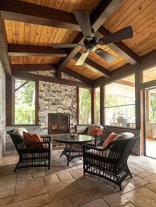 Outdoor Kitchen Screened Porch Luxury Outdoor Rooms Gallery Log Homes Timber Hom In 2020 Timber House Outdoor Rooms Log Homes