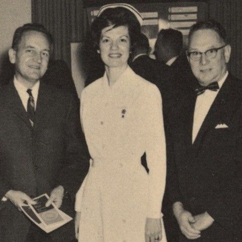 In 1965, Emma Jean Knapper, RN, became director of nursing. A Danville native, Knapper was something of a Geisinger legend. She graduated from and later served as director of Geisinger School of Nursing, and later became Geisinger's first female executive vice president of operations. The Knapper Clinic community medicine facility on the Danville campus is named in her honor. Below, she is shown with a pair of high school guidance counselors at a Geisinger sponsored career day. #TBT