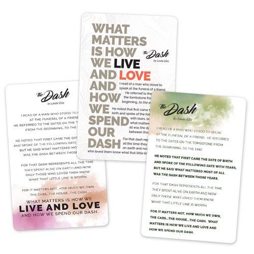 The Dash Poem Wallet Cards In 2020 Card Wallet Poems Dash Wallet