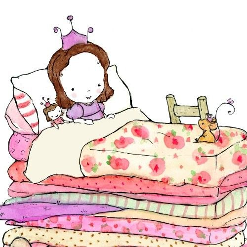 Princess And The Pea dark haired  8x10 Fairy by trafalgarssquare, $20.00