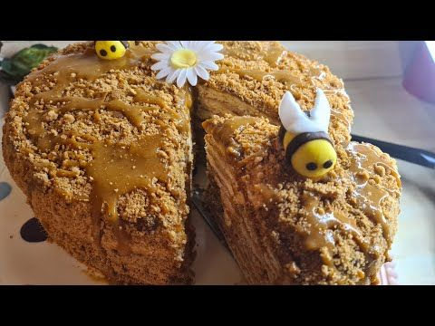 كيكة العسل الروسية من اروع الكيكات ضروري تجربوها Youtube Food Cake Breakfast